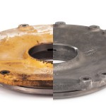 CAT Excavator Bearing Housing before & after Ultrasonic Cleaning